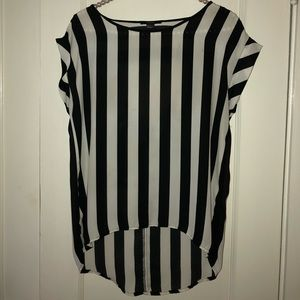 Forever 21 Black/White Stripe Top